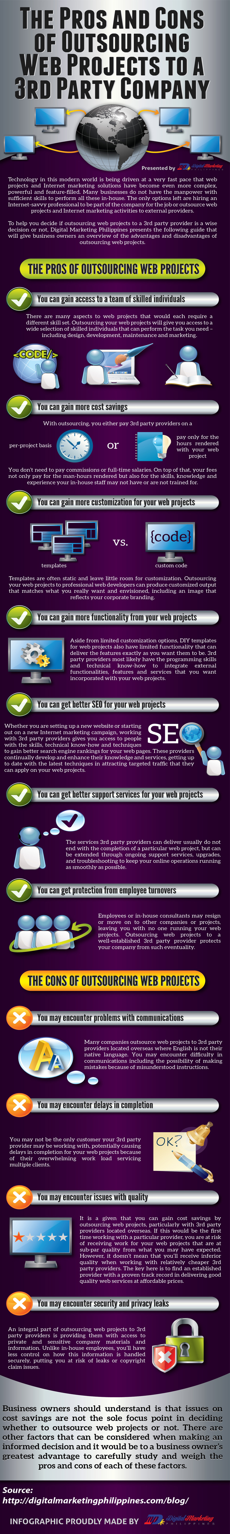 The Pros and Cons of Outsourcing Web Projects to a 3rd Party Company