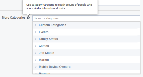 categories targeting