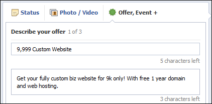 describe your offer