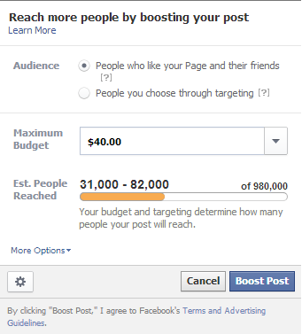 fb boost post targeting