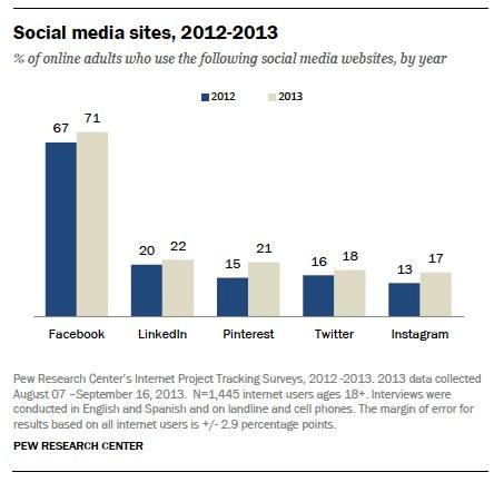 social media sites 2012-2013