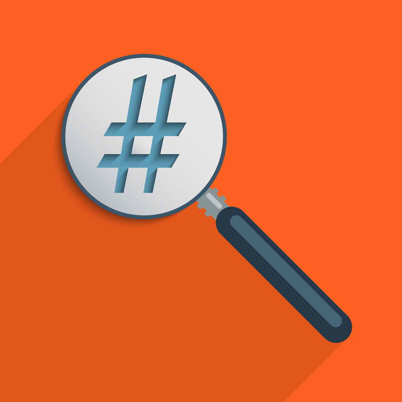 hashtag in social media