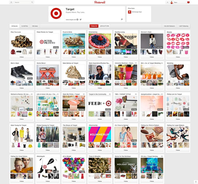 Targets Pinterest campaign
