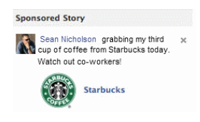 starbucks Facebook sponsored stories