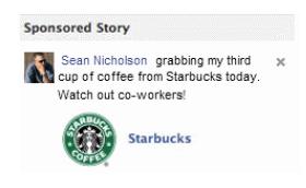 starbucks Facebook sponsored stories