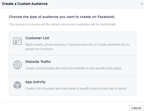 create custom audience 1