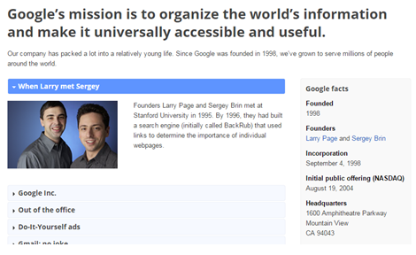 googles mission