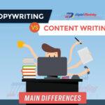 Copywriting VS Content Writing – A Comparison (Infographic)