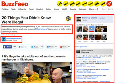 buzzfeed listicles paid content promotion