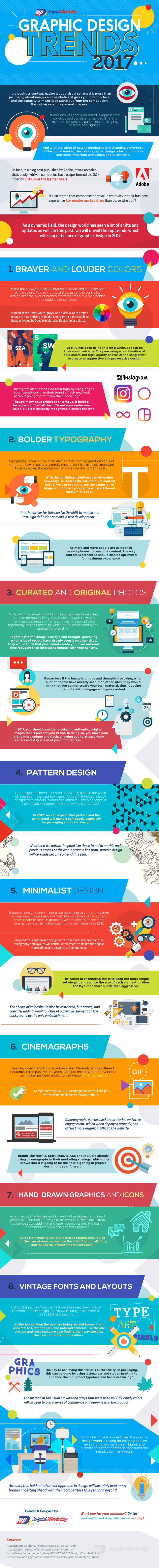 The Top 8 Graphic Design Trends in 2017 (Infographic) - An Infographic from Digital Marketing Philippines