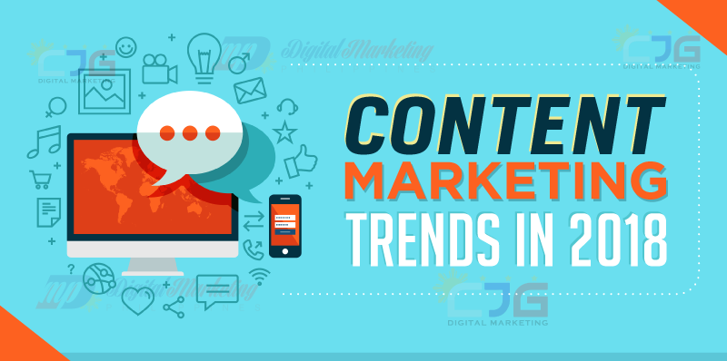 Content Marketing Trends in 2018 cover